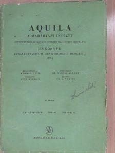 Barthos Gyula - Aquila - A Magyar Madártani Intézet évkönyve 1959 (aláírt példány) [antikvár]