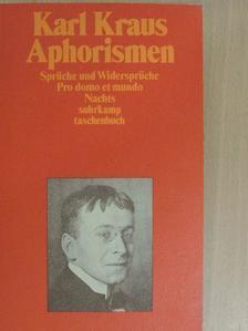 Karl Kraus - Aphorismen [antikvár]