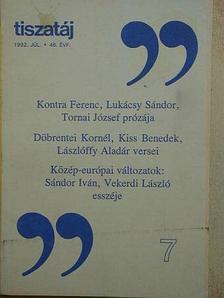 Beke György - Tiszatáj 1992. július [antikvár]