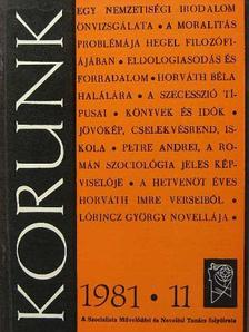 Benkő András - Korunk 1981. november [antikvár]