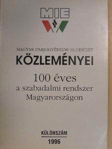Beczner Farkas - Magyar Iparjogvédelmi Egyesület Közleményei 1996. Különszám [antikvár]