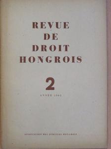 Aurél Benárd - Revue de Droit Hongrois 1961/2. [antikvár]