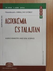 Barta Károly - Agrokémia és Talajtan 2009. június [antikvár]