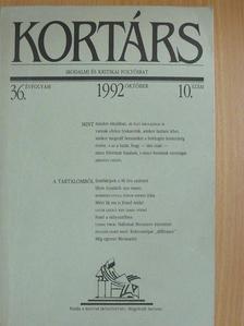 Beney Zsuzsa - Kortárs 1992. október [antikvár]