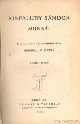 KISFALUDY KÁROLY - Kisfaludy Sándor munkái I-II. kötet [antikvár]
