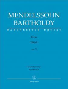 MENDELSSOHN - ELIAS OP.70 KLAVIERAUSZUG URTEXT (ANDREAS KÖHS)