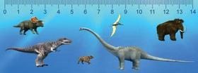 MCN19 - Dinoszauruszok 3D hatású vonalzó 148 x 55 mm A