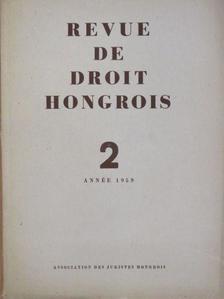 Bacsó Jenő - Revue de Droit Hongrois 1959/2. [antikvár]