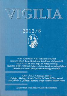 Lukács László - Vigilia 2012/8 [antikvár]