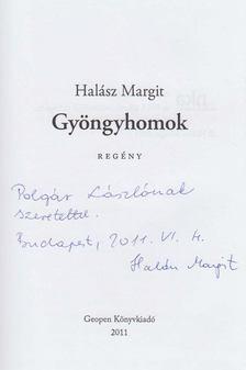 Halász Margit - Gyöngyhomok (dedikált) [antikvár]