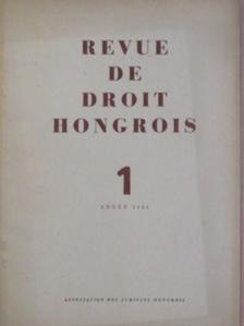 István Tímár - Revue de Droit Hongrois 1961/1. [antikvár]