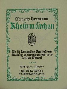 Clemens Brentano - Rheinmärchen (gótbetűs) [antikvár]