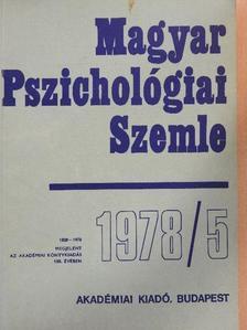 A. Blaser - Magyar Pszichológiai Szemle 1978/5. [antikvár]