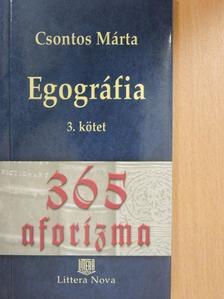 Csontos Márta - Egográfia 3. [antikvár]