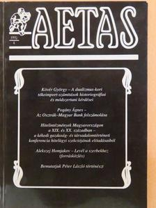 Eiler Ferenc - Aetas 1992/4. [antikvár]