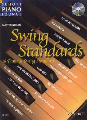 SWING STANDARDS, 18 FAMOUS SWING STANDARDS FOR PIANO WITH CD (C.GERLITZ)