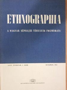 Avasi Béla - Ethnographia 1964/1-4. [antikvár]