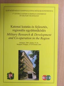 Bartha Tibor - Katonai kutatás és fejlesztés, regionális együttműködés [antikvár]