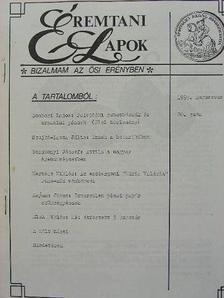 Gosztonyi József - Éremtani Lapok 1993. augusztus [antikvár]