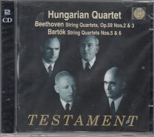 BEETHOVEN-BARTÓK - STRING QUARTETS 2CD HUNGARIAN QUARTET
