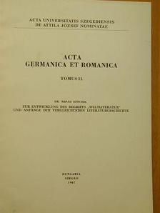 Berczik Árpád - Acta Germanica et Romanica Tomus II. [antikvár]