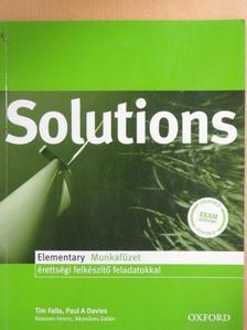 Kelemen Ferenc - Solutions - Elementary - Munkafüzet [antikvár]