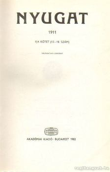 Ignotus - Nyugat 1911. II/A. kötet (13-18. szám) [antikvár]