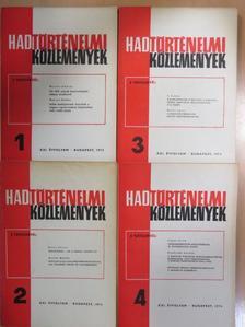 Ács Tibor - Hadtörténelmi Közlemények 1974/1-4. [antikvár]