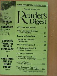 Ben Macintyre - Selected Articles from Reader's Digest December 1994 [antikvár]