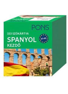 Klett Kiadó - PONS Szókártyák spanyol nyelvből (alcím: 333 szó Spanyol kezdőcsomag)