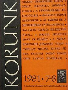 Bustya Endre - Korunk 1981. július-augusztus [antikvár]