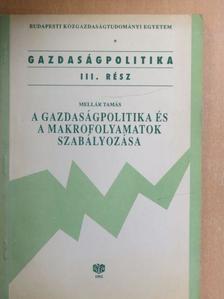 Mellár Tamás - A gazdaságpolitika és a makrofolyamatok szabályozása [antikvár]