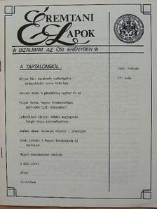 Gedai István - Éremtani Lapok 1993. február [antikvár]