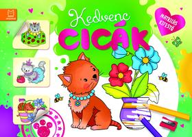 Fecske Csaba - Matricás kifestő. Kedvenc cicák