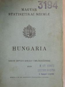 Barsy Gyula - Magyar Statisztikai Szemle 1938. május [antikvár]