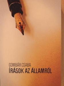 Gombár Csaba - Írások az államról [antikvár]