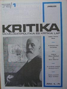 Jordáky Lajos - Kritika 1975. (nem teljes évfolyam) [antikvár]