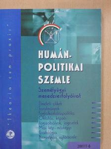 Dr. Hazafi Zoltán - Humánpolitikai Szemle 2007. július-augusztus [antikvár]