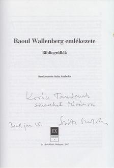 Szita Szabolcs - Raoul Wallenberg emlékezete (dedikált) [antikvár]