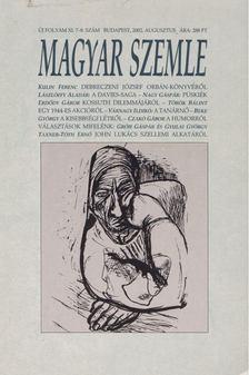 Kodolányi Gyula - Magyar Szemle 2002. augusztus [antikvár]