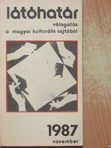 Bertók László - Látóhatár 1987. november [antikvár]