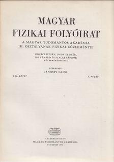 Jánossy Lajos - Magyar fizikai folyóirat XXI. kötet 3. füzet [antikvár]