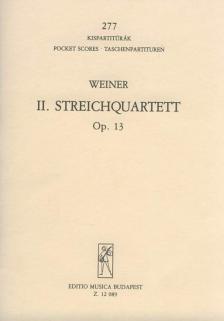 WEINER, LEO - II.STREICHQUARTETT OP.13 (FIS-MOLL) KISPARTITÚRA