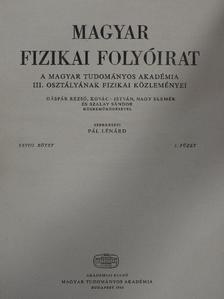 Honyek Gyula - Magyar Fizikai Folyóirat XXVIII. kötet 1. füzet [antikvár]