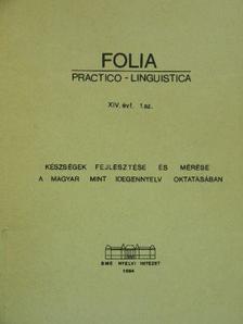 Aradi András - Folia Practico-Linguistica 1984/1. [antikvár]
