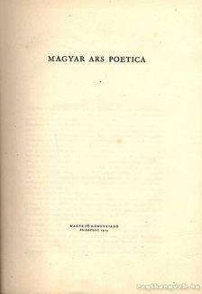 PÁNDI PÁL - Magyar Ars Poetica [antikvár]