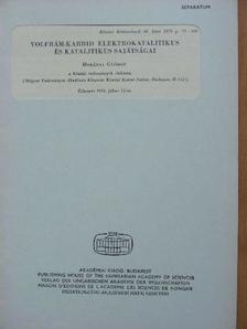 Horányi György - Volfrám-karbid elektrokatalitikus és katalitikus sajátságai [antikvár]