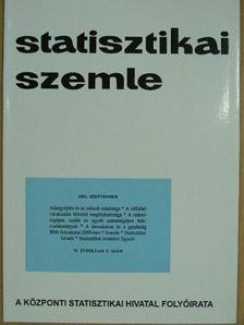 Dr. Csahók István - Statisztikai Szemle 2001. szeptember [antikvár]