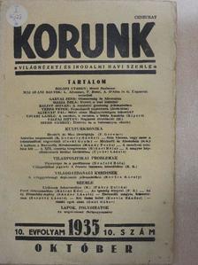 Altenau Pál - Korunk 1935. október [antikvár]