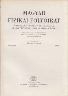 Jánossy Lajos - Magyar fizikai folyóirat XXI. kötet 4. füzet [antikvár]